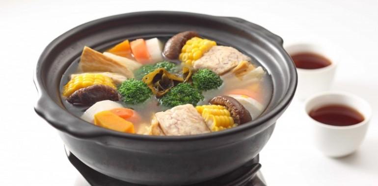 烏龍蔬食茶湯煲