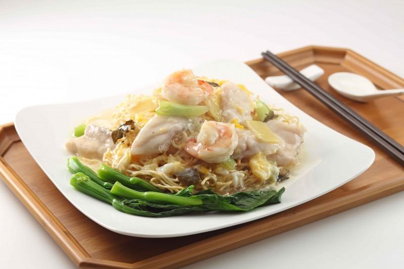 烏龍海鮮生煎麵