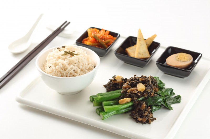 普洱梅菜芥蘭套餐 Chinese kale and preserved vegetable rice set